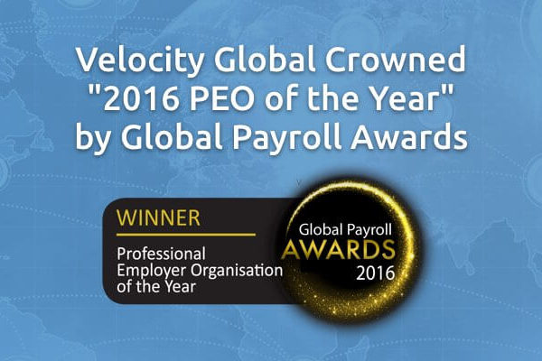 Velocity Global Crowned 2016 PEO of the Year by Global Payroll Awards