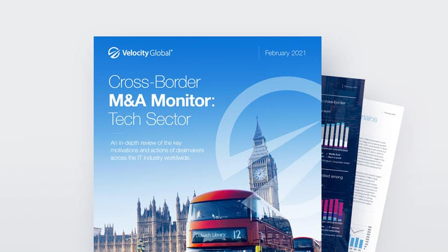 Report Cover for Cross-Border M&A Monitor for the Tech Sector